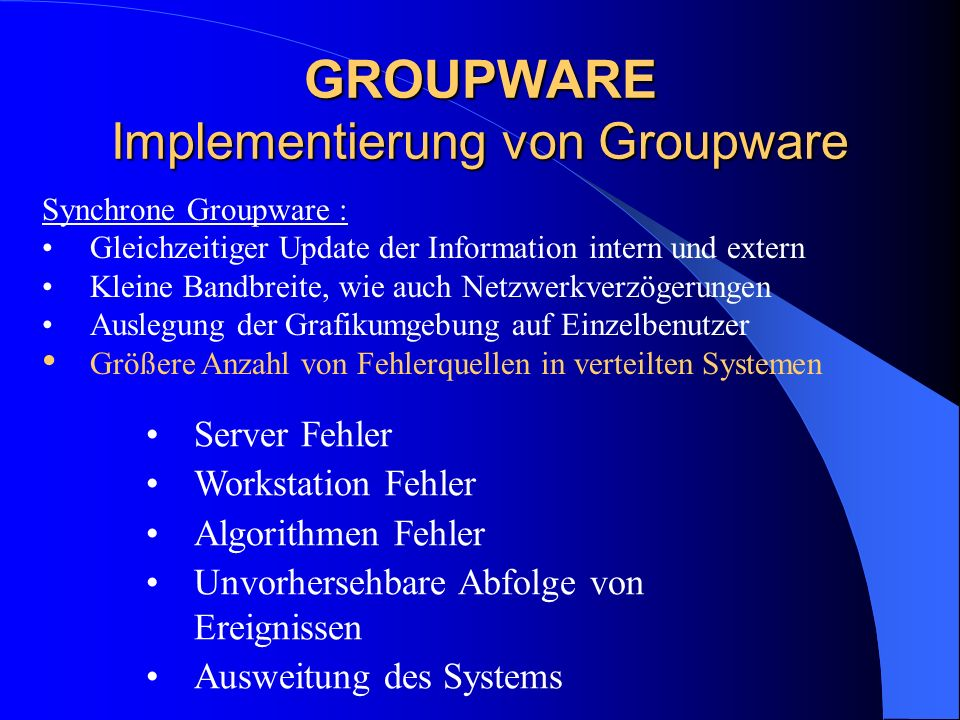 GROUPWARE Implementierung von Groupware