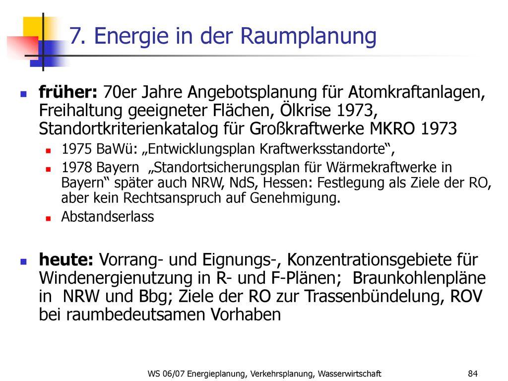 Ws 0607 Energieplanung Verkehrsplanung Wasserwirtschaft Ppt