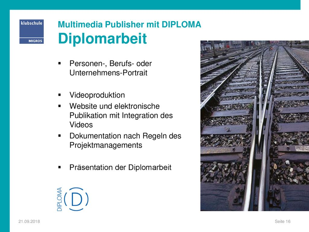 Multimedia Publisher mit DIPLOMA Diplomarbeit