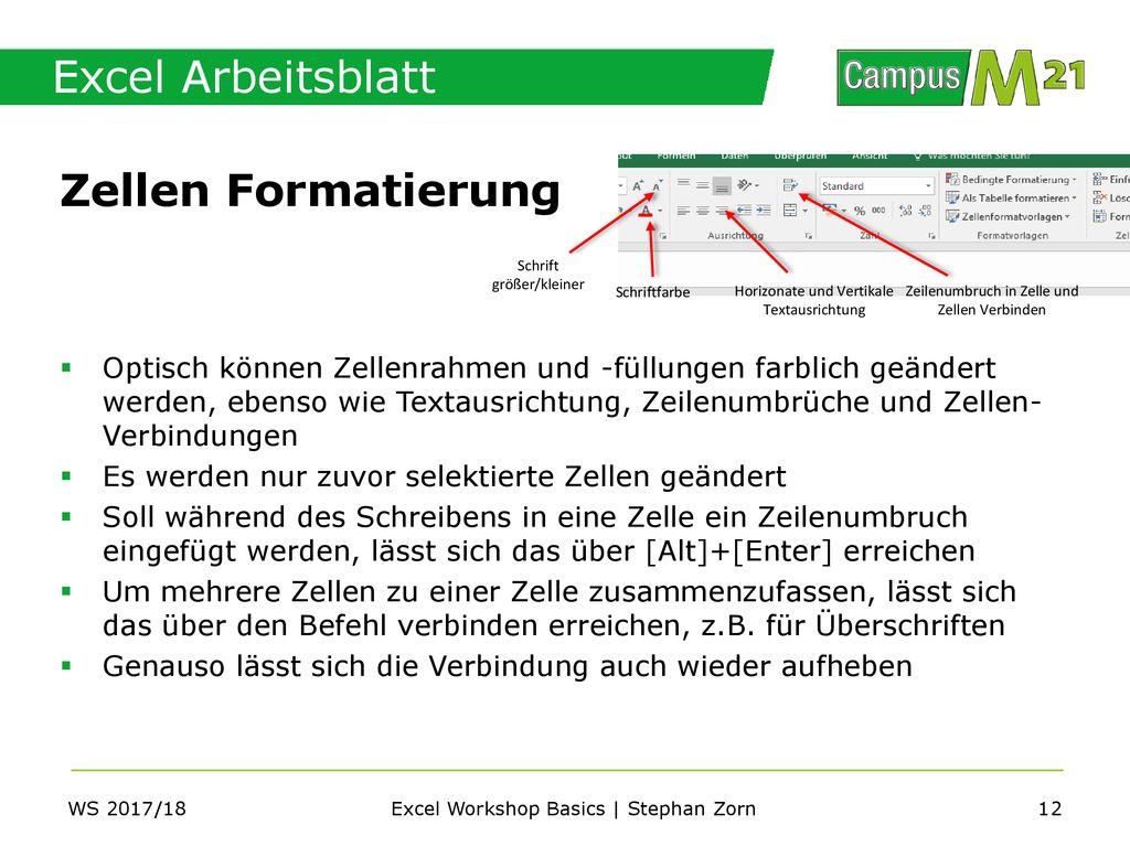 Excel Workshop Basics | Stephan Zorn - ppt herunterladen
