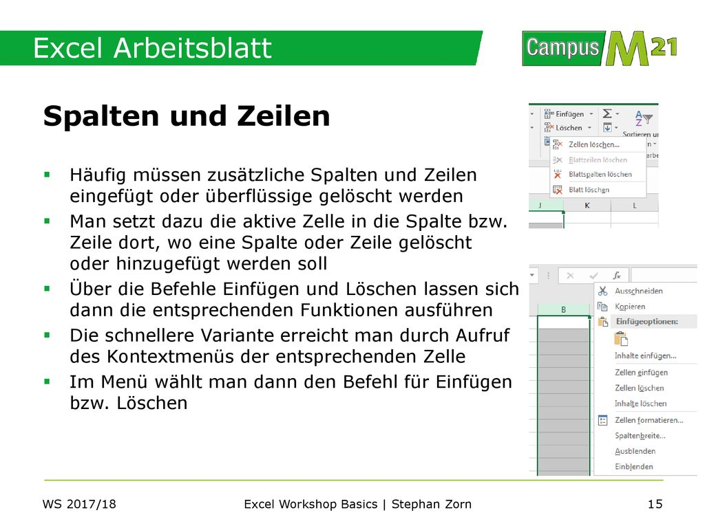 Excel Workshop Basics | Stephan Zorn - ppt herunterladen