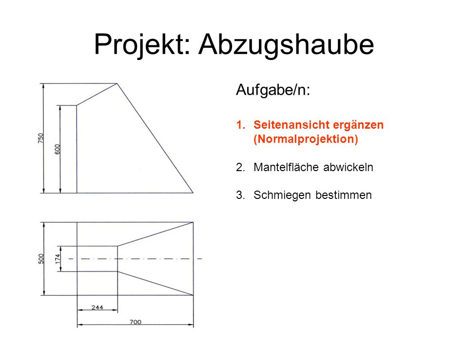 Projekt: Abzugshaube Aufgabe/n: - ppt herunterladen