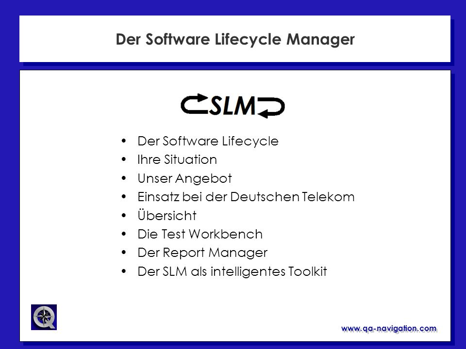 Der Software Lifecycle Manager
