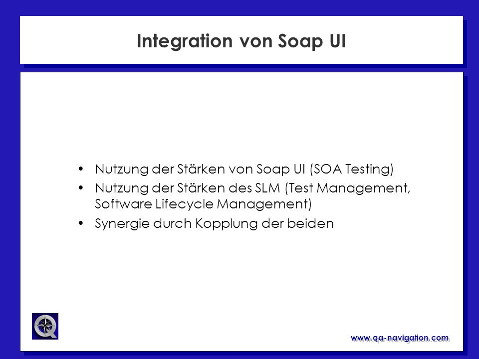 Integration von Soap UI