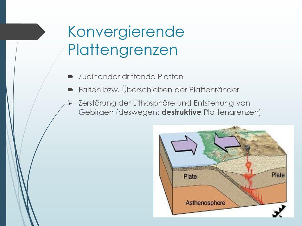 konvergierende plattengrenzen