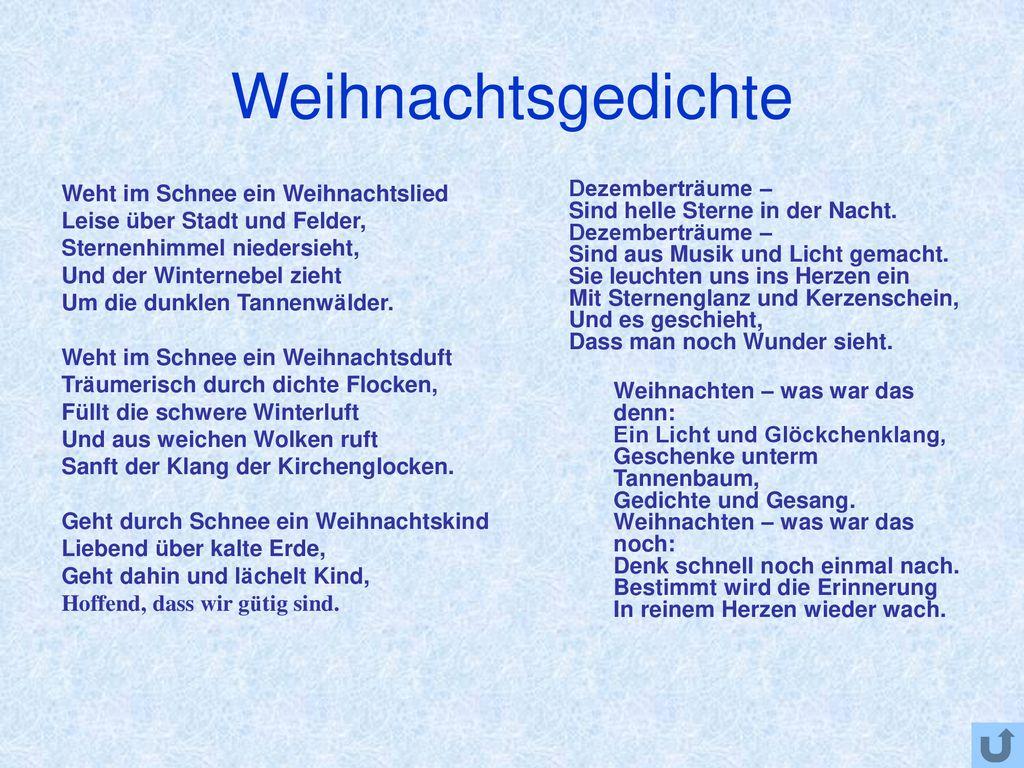 Tannenbaum Gedicht.Feste In Deutschland Weihnachten Ppt Herunterladen