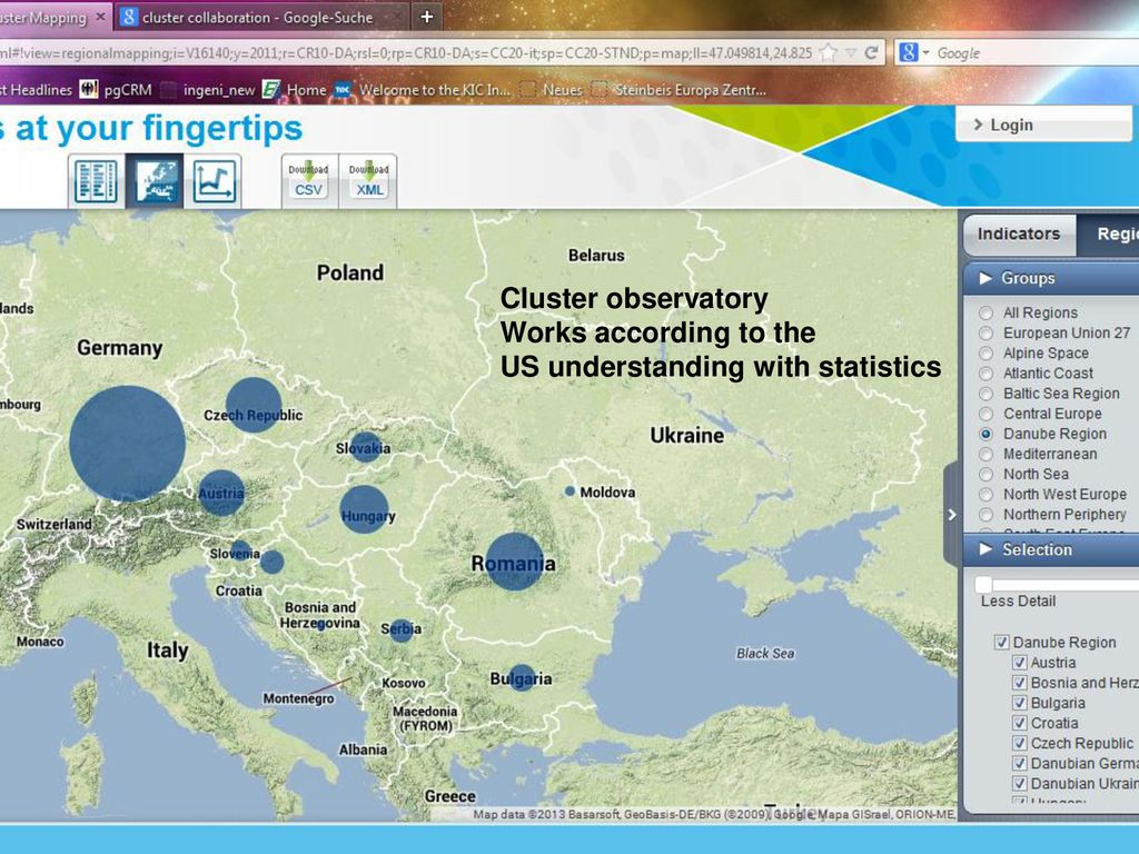 Cluster Mapping A tool for regional and national policy ...