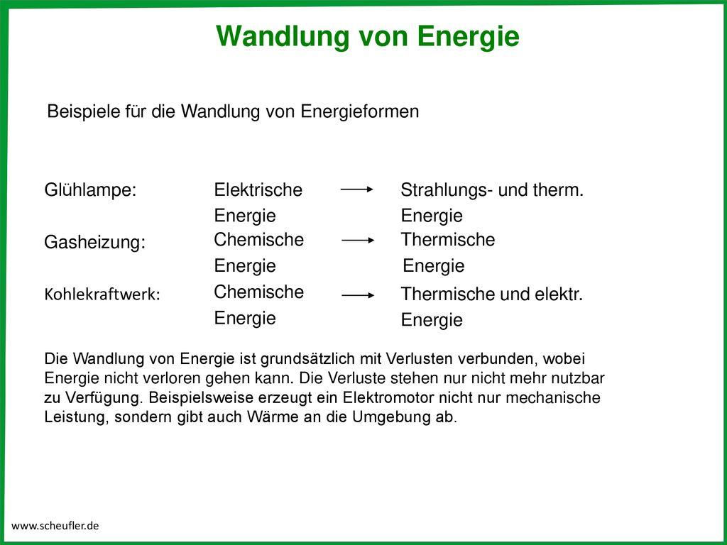 Energie, Arbeit und Leistung   ppt herunterladen