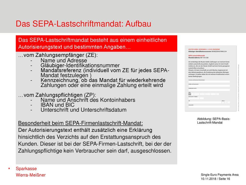 Sepa Lastschrift Leitfaden Pdf Kostenfreier Download