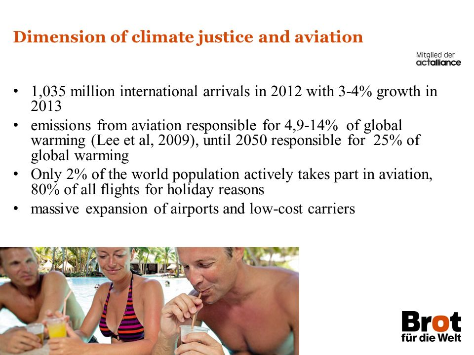 Dimension of climate justice and aviation