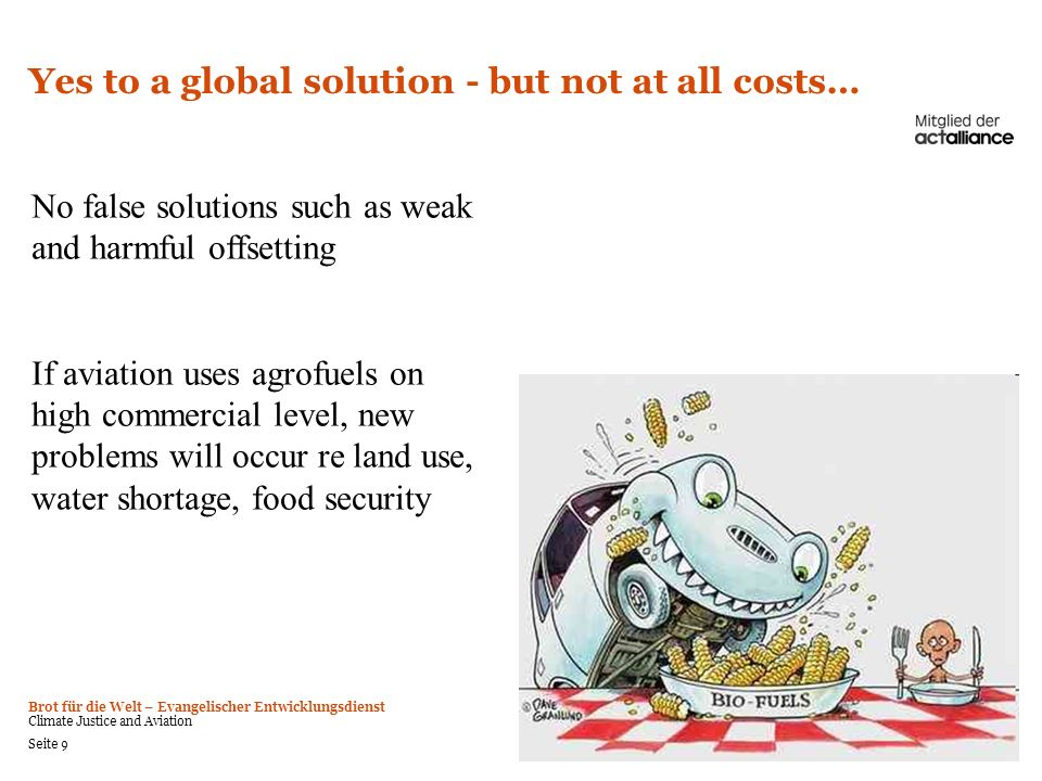 Yes to a global solution - but not at all costs…