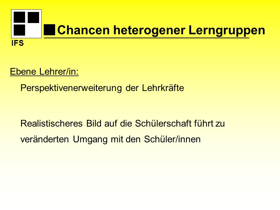 Chancen heterogener Lerngruppen