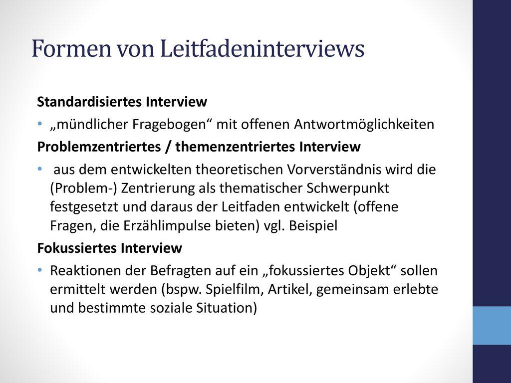 Interviewleitfaden Qualitative Forschung Studocu 0