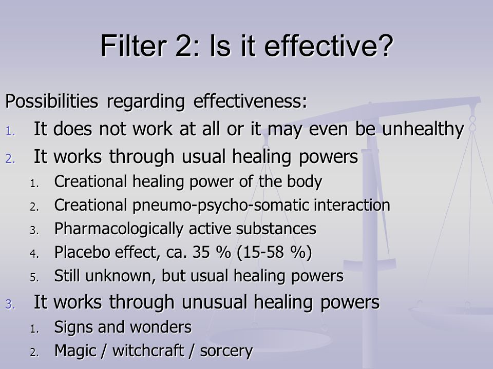 Filter 2: Is it effective