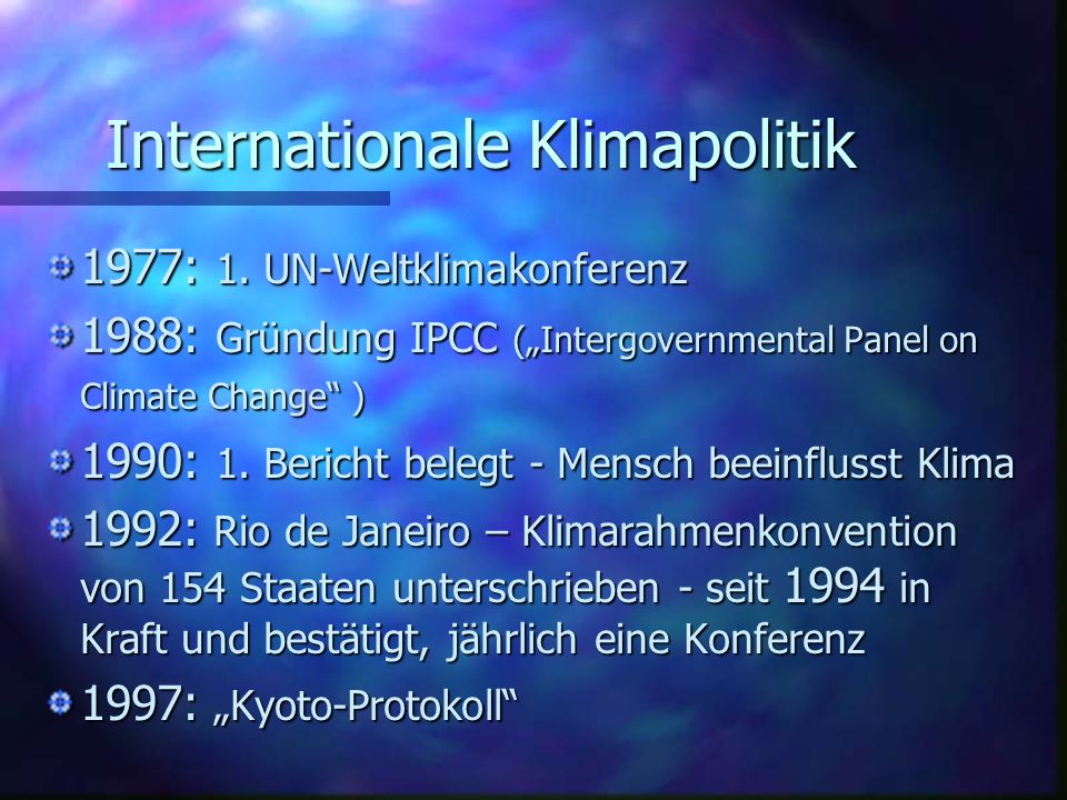 Internationale Klimapolitik