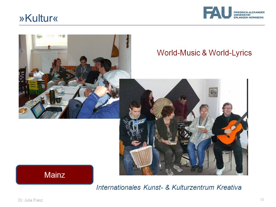 »Kultur« World-Music & World-Lyrics Mainz