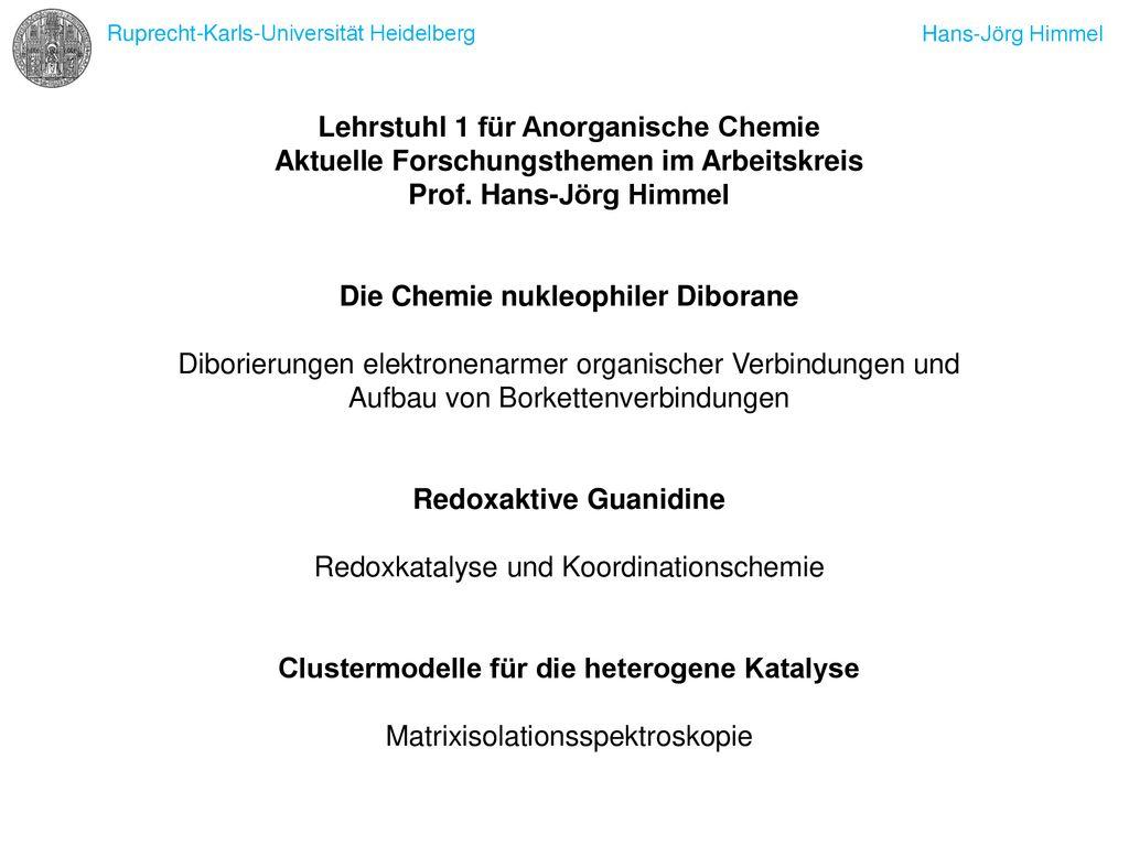 Lehrstuhl 1 Für Anorganische Chemie Ppt Herunterladen