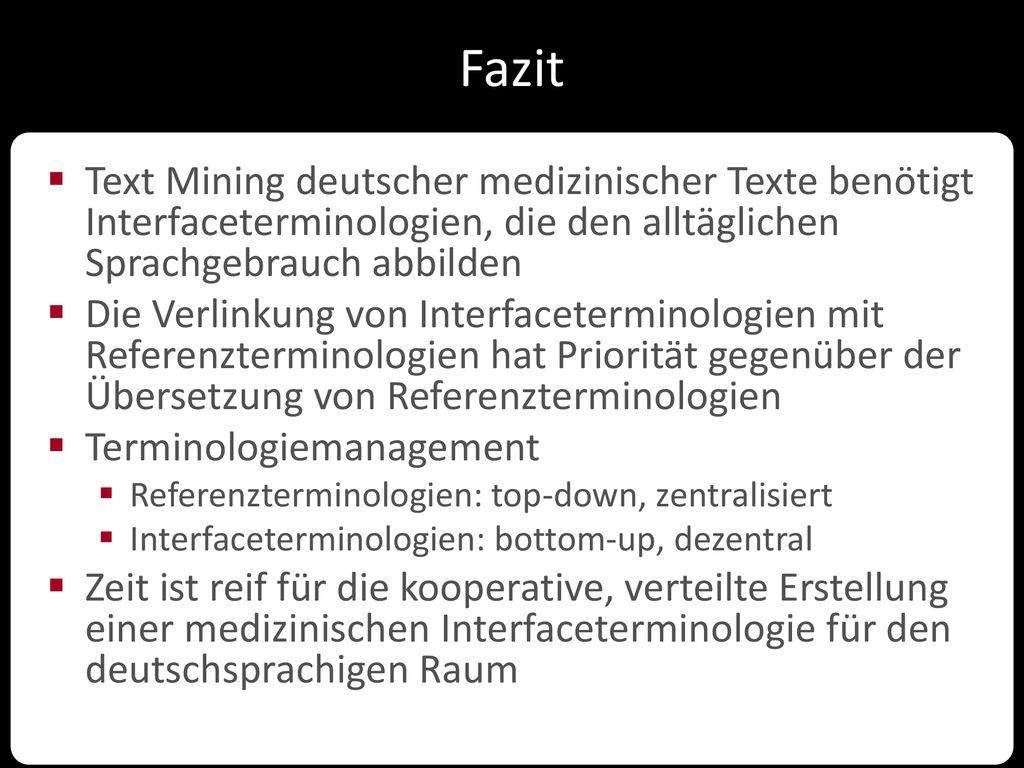 Interface Terminologien Und Referenzterminologien Stefan Schulz