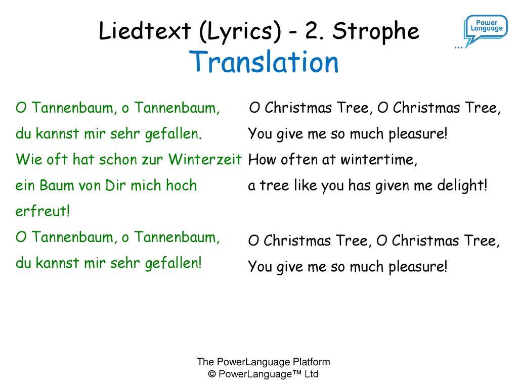 O Tannenbaum Lied Text.O Tannenbaum Ppt Herunterladen