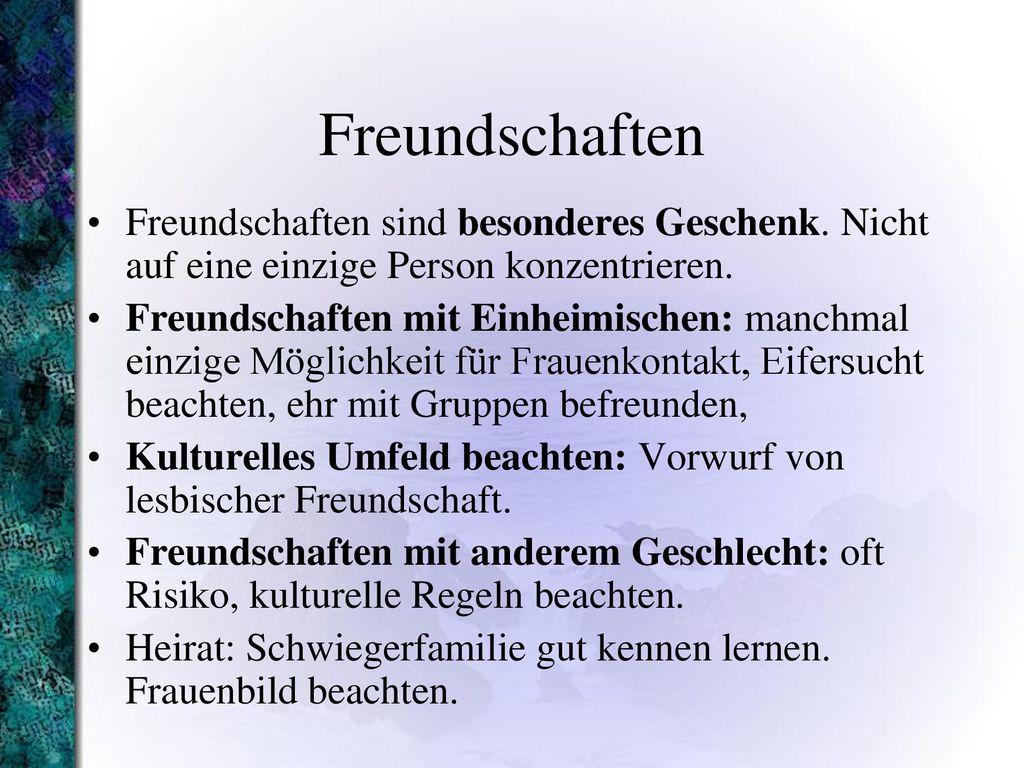 Regeln der freundschaft