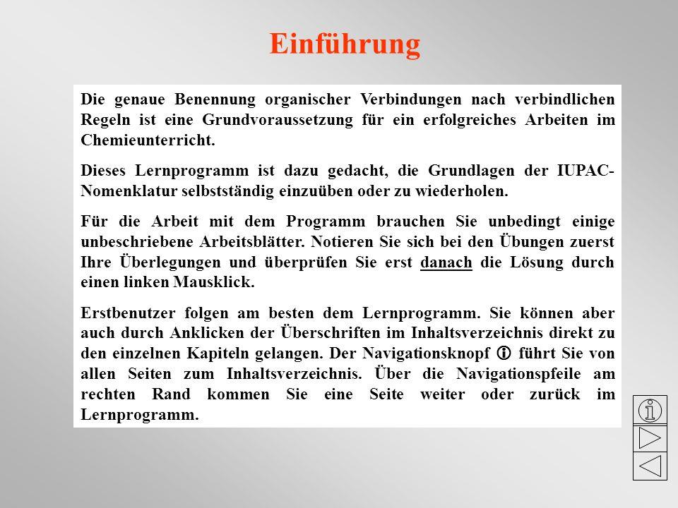 Nomenklatur organischer Verbindungen nach den IUPAC-Regeln ein ...