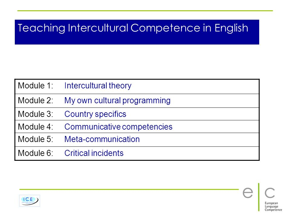 Teaching Intercultural Competence in English