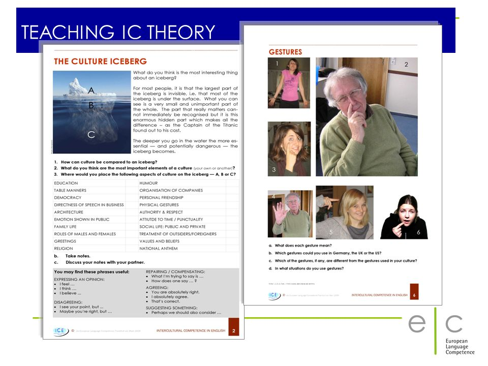 TEACHING IC THEORY