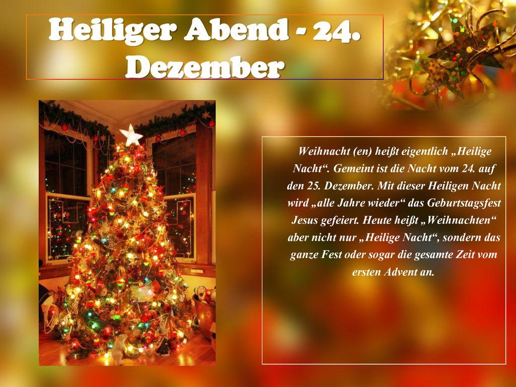 Ist Weihnachten Am 24 Oder 25.Weihnachten In Deutschland Ppt Herunterladen