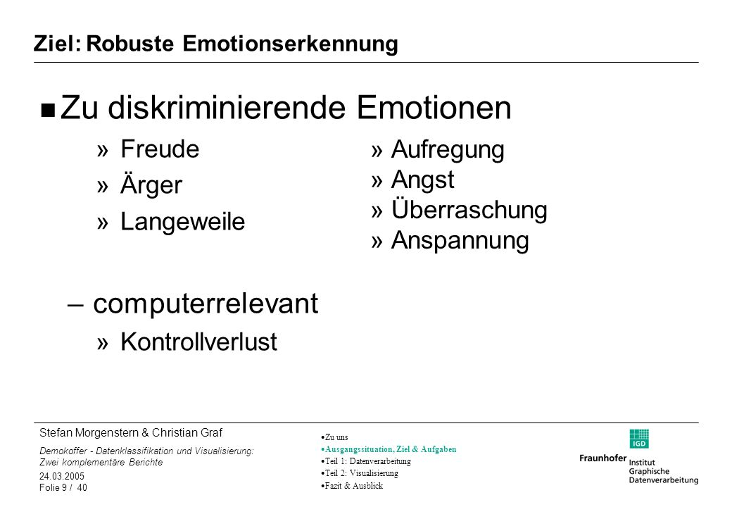 Ziel: Robuste Emotionserkennung