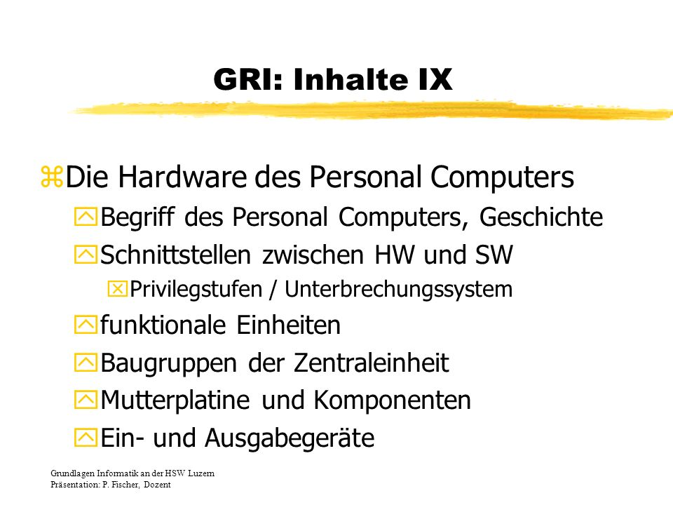 Die Hardware des Personal Computers