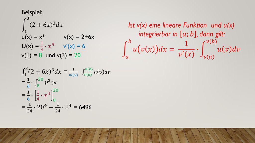 Substitutionsregel Integration Durch Substitution 9