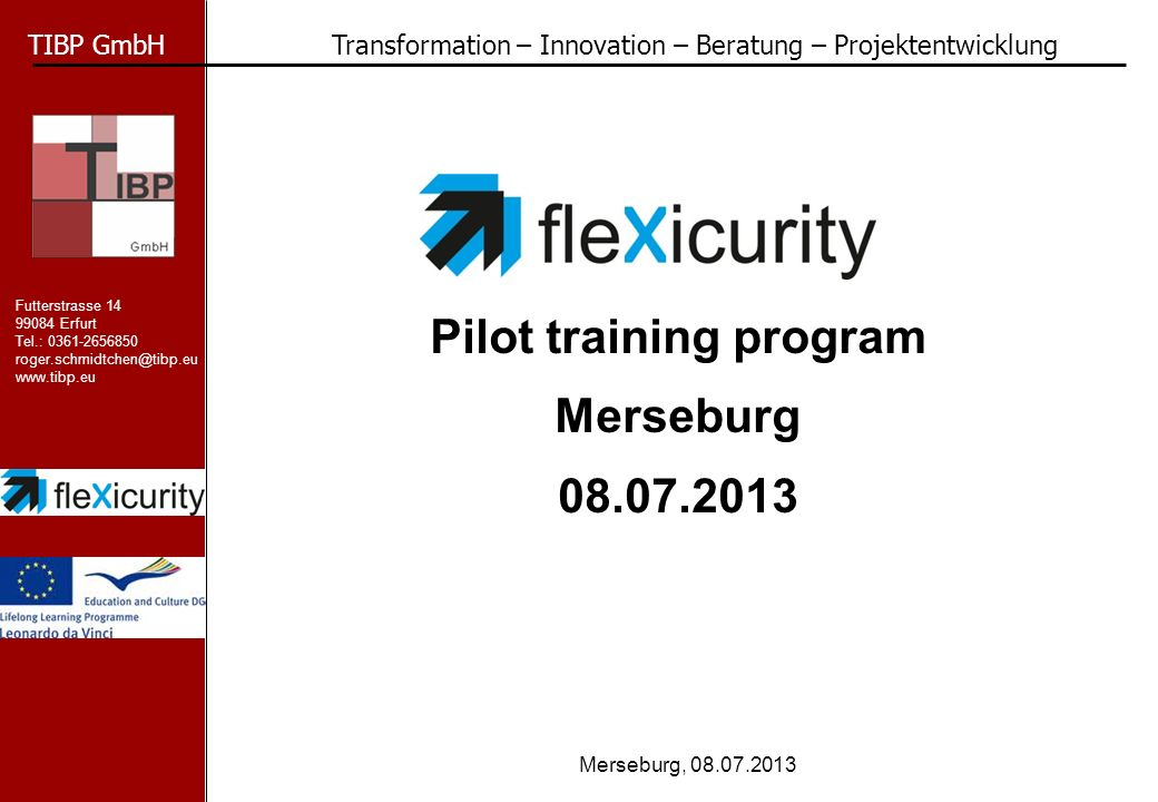 Pilot training program