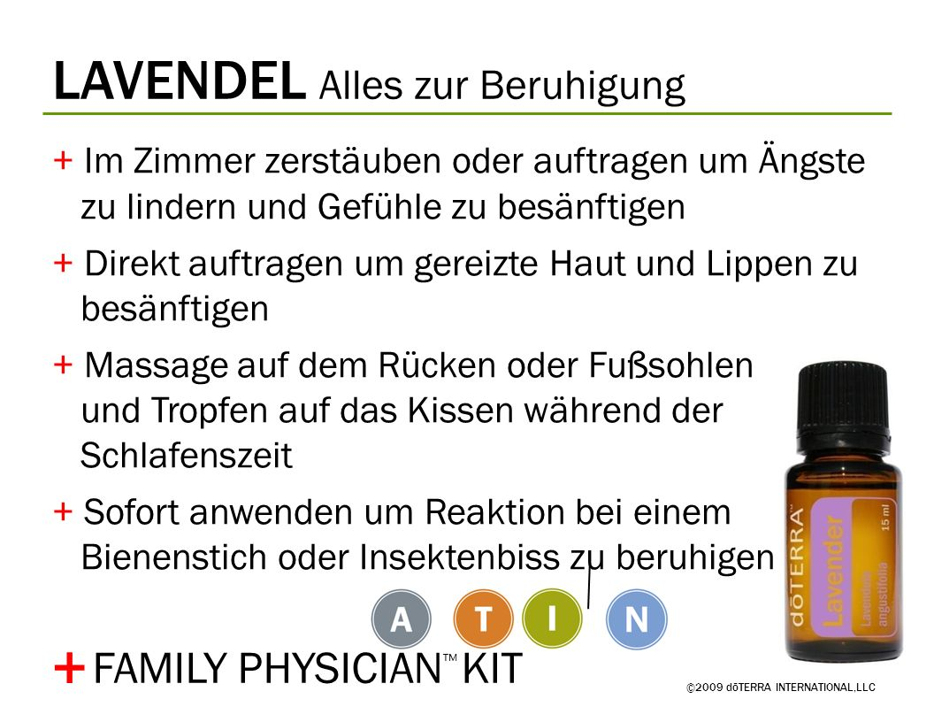 + LAVENDEL Alles zur Beruhigung FAMILY PHYSICIAN™ KIT