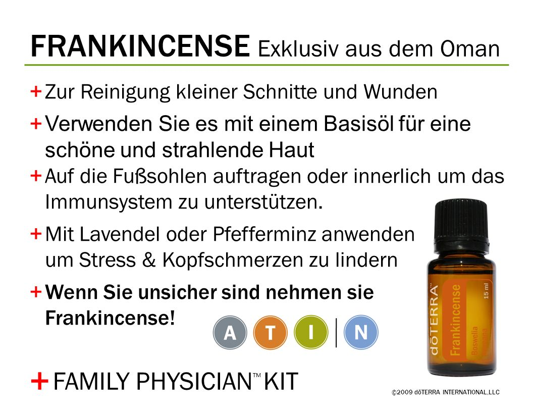 + FRANKINCENSE Exklusiv aus dem Oman FAMILY PHYSICIAN™ KIT