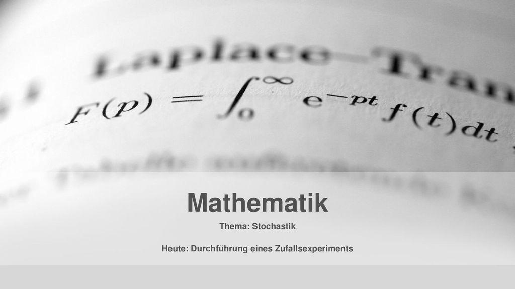 zufallsexperiment mathe