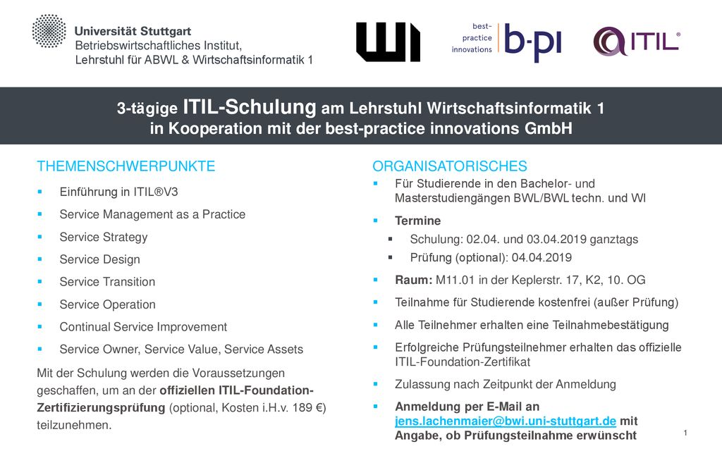 itil schulung
