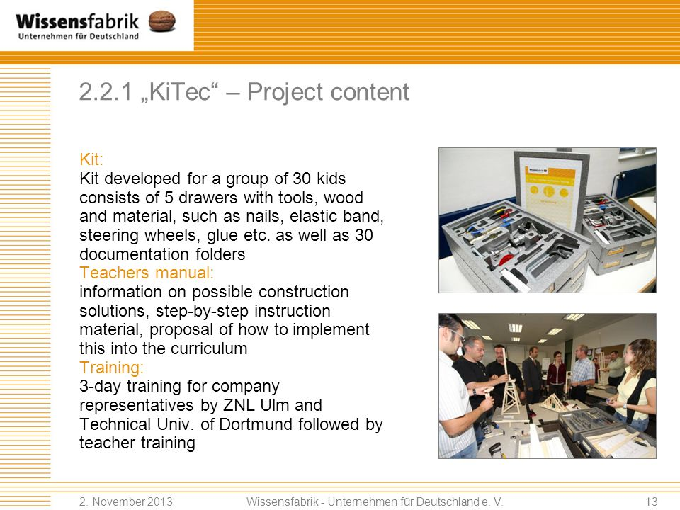 "2.2.1 ""KiTec – Project content"