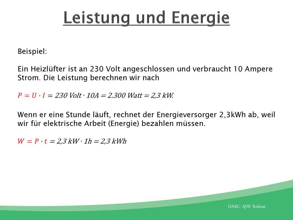 Ohmsches Gesetz Leistung Und Energie Ppt Herunterladen