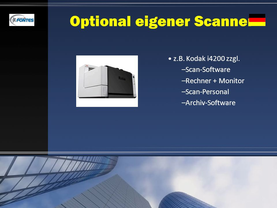 Optional eigener Scanner