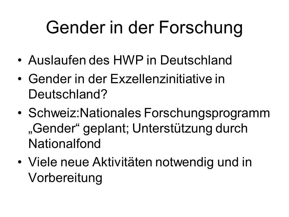 Gender in der Forschung