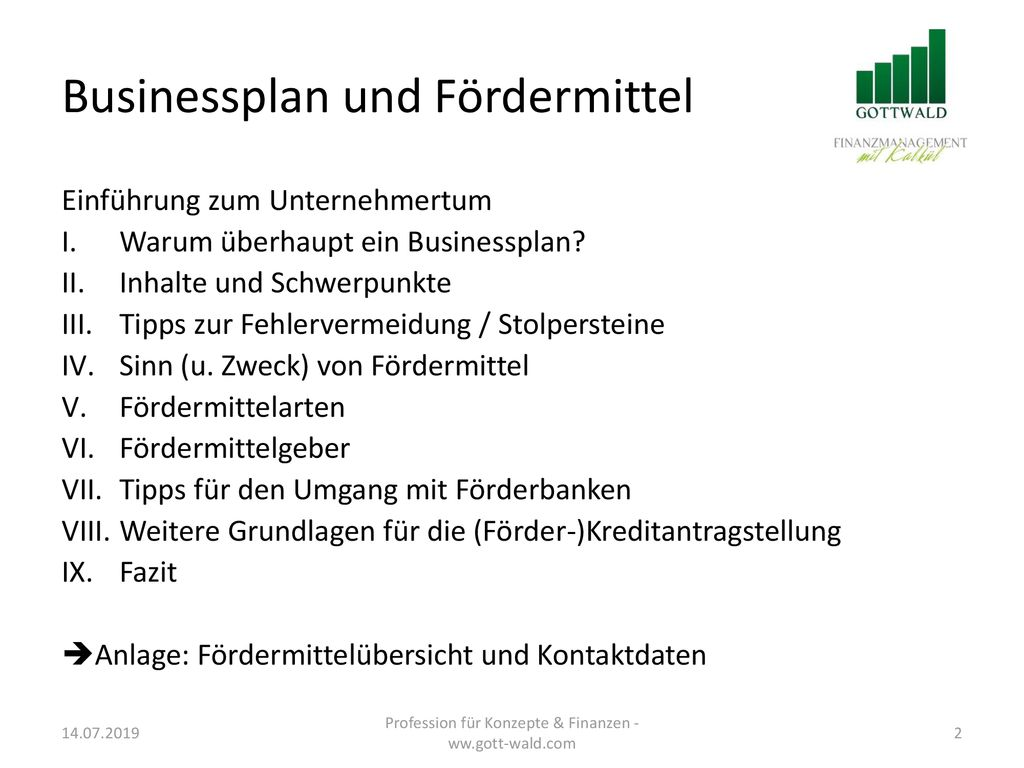 Gottwald Finanzmanagement In Kooperation Mit Promotion