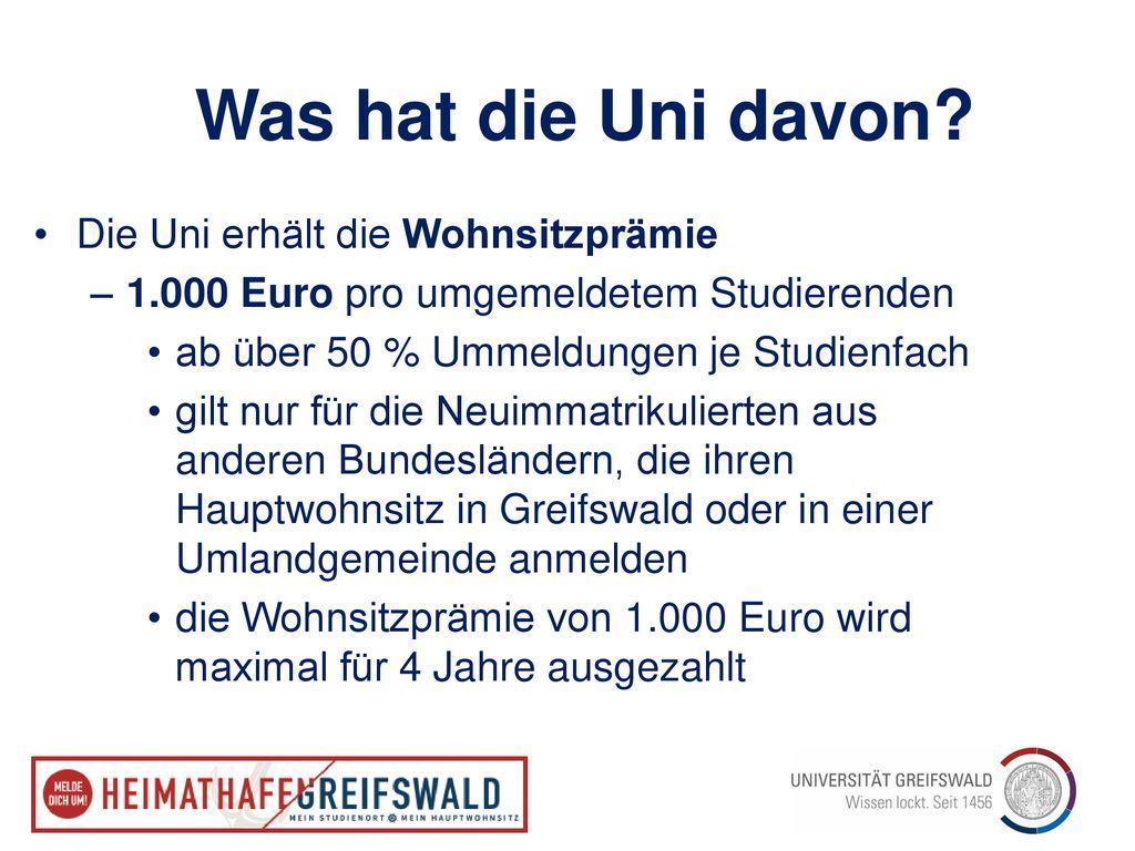 Heimathafen Greifswald Mein Studienort   Mein Hauptwohnsitz   ppt ...