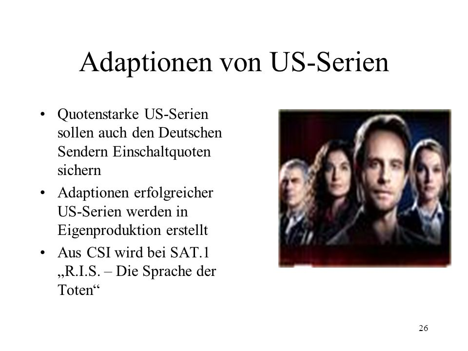Adaptionen von US-Serien