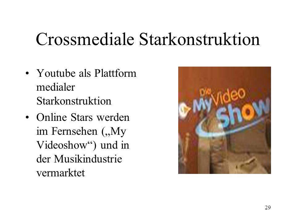 Crossmediale Starkonstruktion