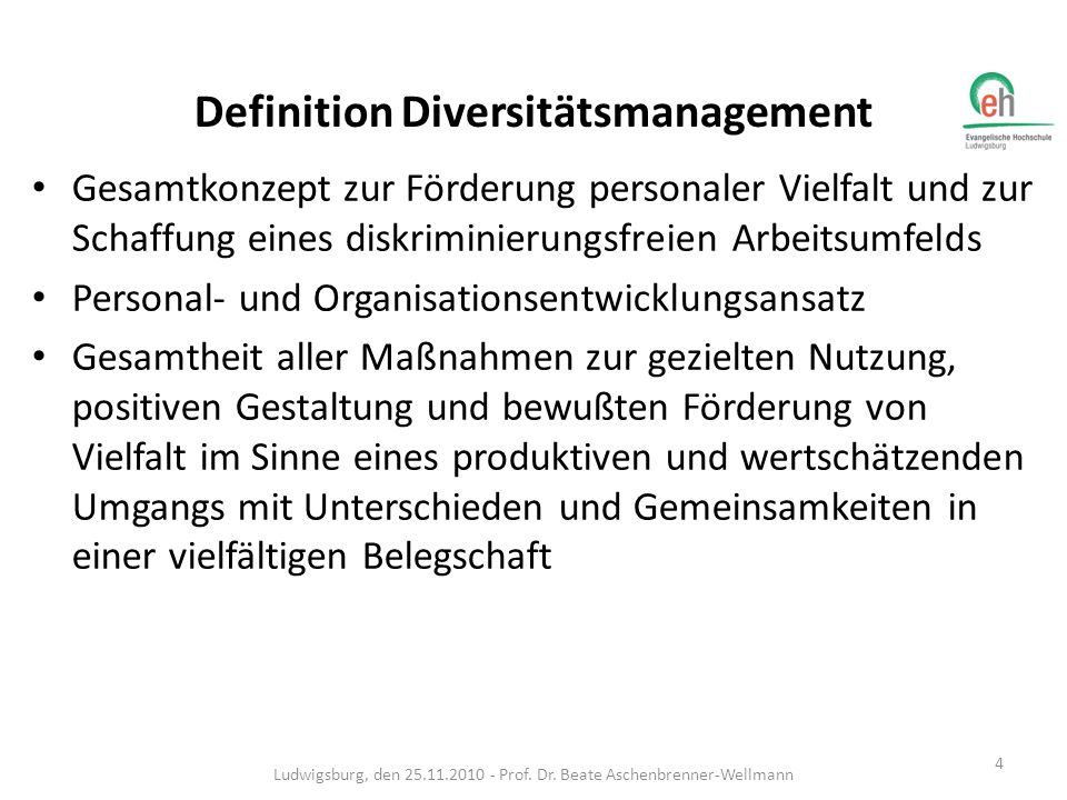 Definition Diversitätsmanagement