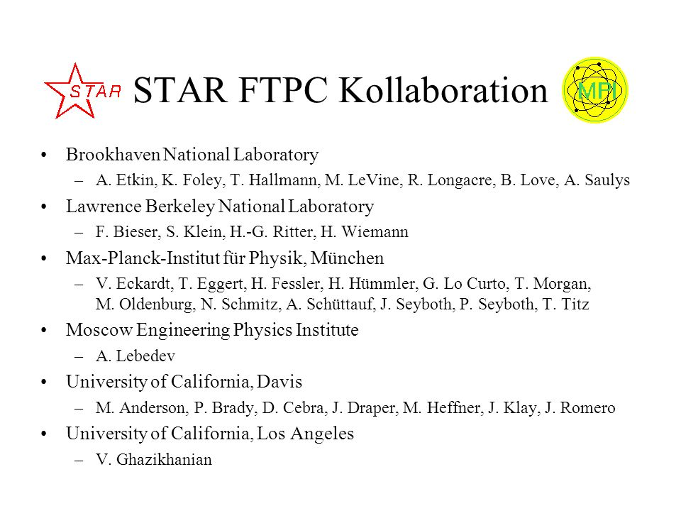 STAR FTPC Kollaboration