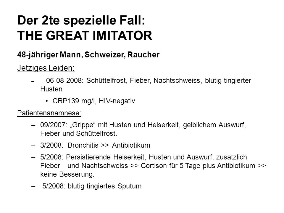 Der 2te spezielle Fall: THE GREAT IMITATOR