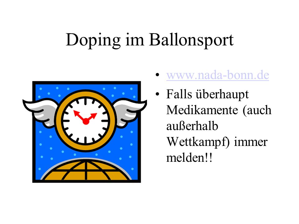 Doping im Ballonsport