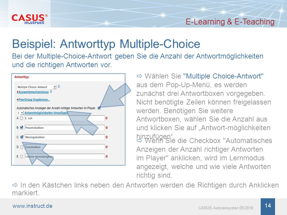 Beispiel: Antworttyp Multiple-Choice