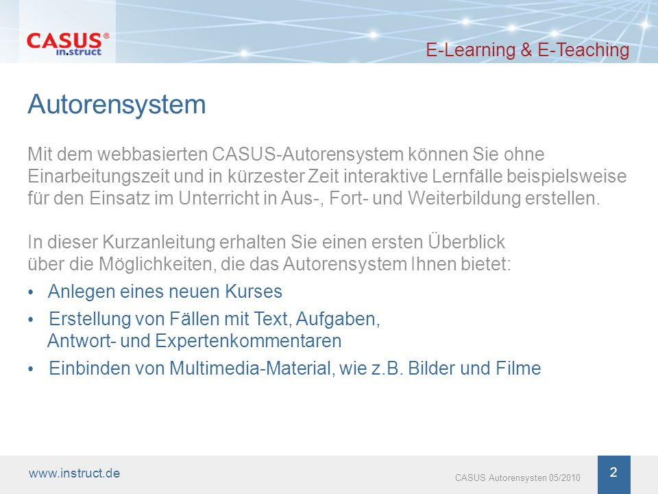 Autorensystem E-Learning & E-Teaching